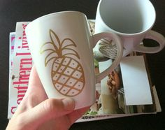 #DIY Pineapple Sharpie Mugs!  Psych mugs totally happening!!