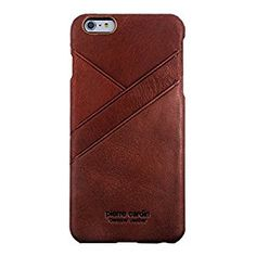 Amazon.com: iPhone 6/6s Case,Pierre Cardin Genuine Leather iphone Back Cover with 3 Card Slots for 4.7 iPhone 6/6S Dark Red: Cell Phones & Accessories
