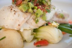 Moist Stewart Island Blue Cod Fillet with a Avocado & Lime Salsa