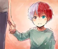 Little Todoroki Shouto (Tumblr @zenzyx)