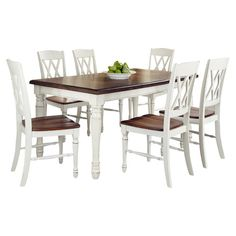 7-Piece Michael Dining Set in White