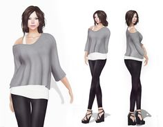 https://flic.kr/p/wpkmBS | Hurry!!! Sale During Weekend - Only 100 L$! Meli Imako Full Perm Rigged Mesh Tank Top With Off Shoulder Batwing Top | marketplace.secondlife.com/p/Hurry-Sale-During-Weekend-10...?