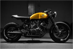 Virago Cafe Racer . i love all the black and the long seat
