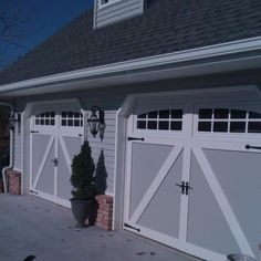 Garage doors. Carriage house style