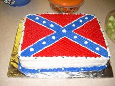Image result for Confederate birthday cake image