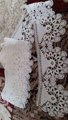 Crochet lace edging with point Crochet Edging Patterns, Crochet Lace Edging, Crochet Borders, Crochet Squares, Cotton Crochet, Crochet Designs, Crochet Doilies, Knitting Patterns, Filet Crochet