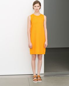Image 1 of STRAIGHT CUT DRESS WITH SIDE ZIP from Zara