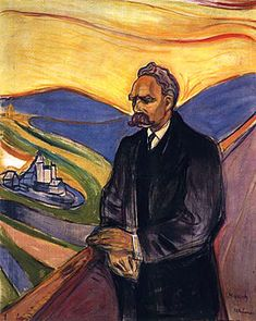 Edvard Munch - Portrait of Nietzsche. Munch (1863–1944)[1] was a Norwegian painter and printmaker whose intensely evocative treatment of psychological themes built upon some of the main tenets of late 19th-century Symbolism and greatly influenced German Expressionism in the early 20th century. One of his most well-known works is The Scream of 1893.