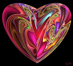 Fractal art heart by Love Heart Images, I Love Heart, Happy Heart, Heart Pics, Heart In Nature, Heart Art, Heart Wallpaper, Love Wallpaper, Art Fractal