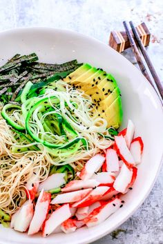 This California Roll Noodle Bowl brings the refreshing essence of the Americanized California Roll to a bowl and away from the sushi menu.