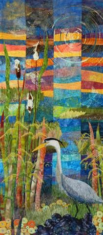 Autumn Closing In.  Landscape quilt by Eileen Williams