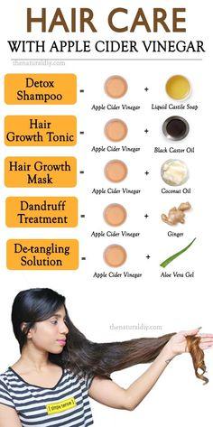 APPLE CIDER VINEGAR FOR HAIR CARE - The Natural DIY