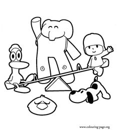 free printable pocoyo coloring pages for kids pinterest pocoyo ideas para fiestas and birthday party ideas