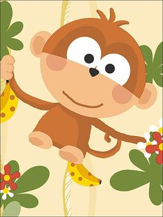 cartoon monkeys are cute to