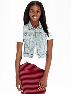 Women's Denim Vests Product Image