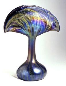 .Tiffany Peacock Vase, circa 1900