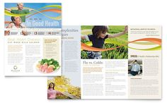 Health Insurance Company Newsletter Design Template by StockLayouts
