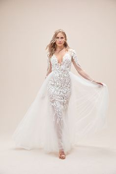 Floral Illusion Plus Size Bodysuit Wedding Dress Wedding Dresses Perth, Wedding Dresses For Girls, Designer Wedding Dresses, Wedding Gowns, Girls Dresses, Affordable Bridal, Civil Wedding, Boho Bride, Dress Making