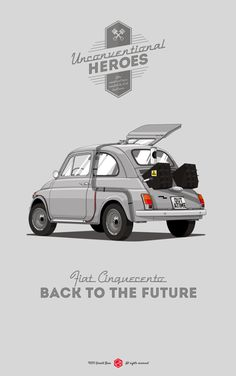 Unconventional Heroes | Illustrator: Gerald Bear #backtothefuture #fiat