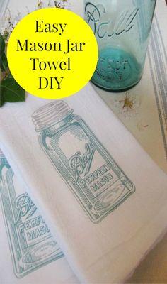 Easy and Elegant Mason Jar Towel Idea