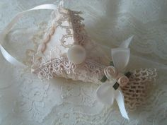 WEDDING CONE FAVOR Antique Ivory Lace Tussie by fragilegarden, $18.00