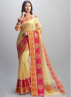Catchy Cotton Silk Designer Traditional Saree Indian traditional sari is seen as the best choice for the deck in festivals, functions, and events. It is well known to the point that even big names love to show astonishing architect wear on red carpets.