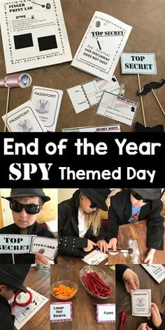 Are you looking for an engaging themed day to motivate and reward your students while still sneaking in learning? Well, this SPY Themed Day download is perfect for your needs! It has step-by-step instructions, 6 centers, mysteries to solve, and more! Students can learn how to lift fingerprints, make id badges and avoid lasers in order to become a secret agent!