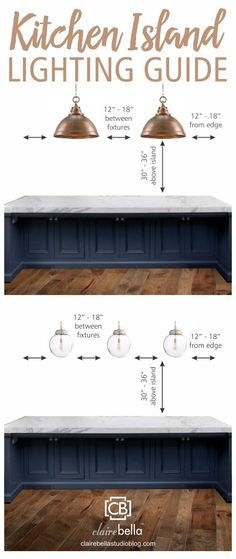 Kitchen Island Lighting Guide. How many lights? How big? How high? How far apart?