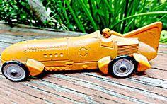 1930s Tootsietoy Die-cast Bluebird Racer In Orange