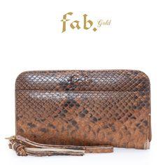 Fab. purse big brown snake