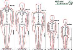 Malvern Armatures - Stop Motion Animation Armature - INDY Range of Solid Limb Armatures