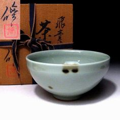 KO6: Vintage Japanese Celadon Tea Bowl, Arita ware by Famous Potter, Osamu Tsuji | Antiques, Asian Antiques, Japan | eBay!