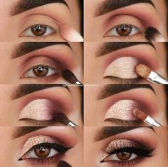 23 Pure Smokey Eye Make-up Make You Sensible eye make-up tutorial; eye make-up for brown eyes; eye make-up pure; Eye Makeup Tips, Makeup Hacks, Makeup Goals, Skin Makeup, Makeup Inspo, Eyeshadow Makeup, Makeup Ideas, Drugstore Makeup, Makeup Products