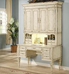 Beautiful desk / hutch Use as desk during the week / repurpose for a buffet for serving guests on weekend!