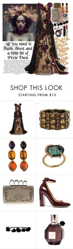 """""""785. Faith, Trust and a little bit of Pixie Dust!"""" by khaosprincess ❤ liked on Polyvore featuring Marchesa, Oscar de la Renta, Alexander McQueen, Disney, Gianvito Rossi, Hollister Co., Viktor & Rolf and Chanel"""