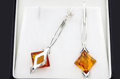 Longues boucles doreilles ambre pendantes en par AmberStoneRing