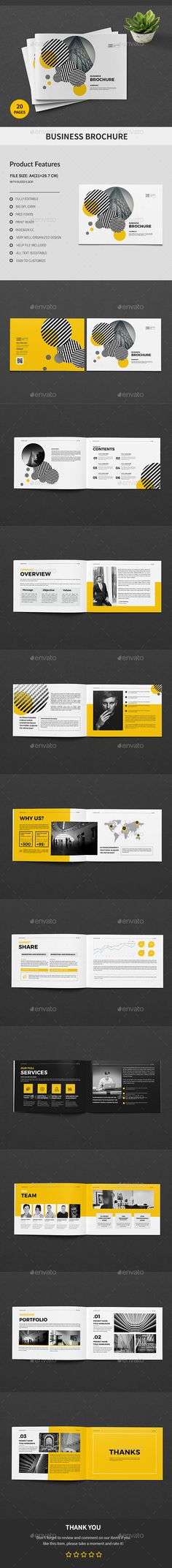 A5 Business Brochure - #Corporate #Brochures Download here: https://graphicriver.net/item/a5-business-brochure/20299089?ref=alena994
