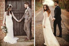 Idea de foto romántica para el día de la boda #bodas #ElBlogdeMaríaJosé #Fotosboda