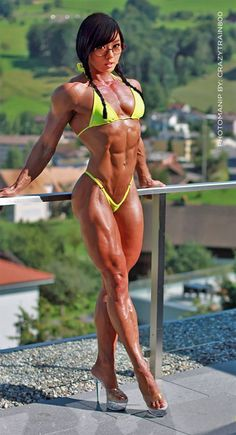 Physique art because women who train ROCK. FBB Booster Since 1982