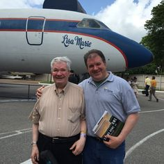 """The authors of """"Seeing Home,"""" Jersey City's Ed Lucas and son Chris Lucas on the road to promote the book pictured at Graceland in Memphis, Tennessee. Jersey City, New Jersey, Memphis Tennessee, Bruce Springsteen, Graceland, Summer 2015, My Images, Authors, Sons"""