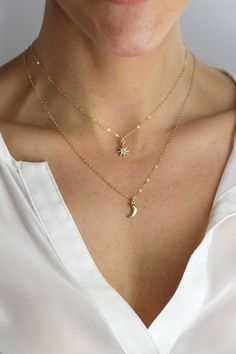 Gold Sea Nautical Pendant Multi Layer Necklace Pretty Little Thing PnrpnE