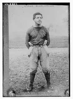 Elmer Eugene Pete Busch (b. 1889) played college ball at Carlisle Indian Industrial School, and later in the NFL. He was a member of the Pomo tribe, born in California.