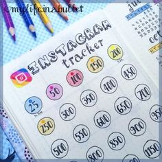 https://social-media-strategy-template.blogspot.com/ #socialmedia Instagram tracker bullet journal