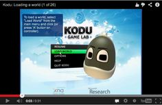 26 step by step videos on using Kodu in the classroom aimed at KS2 and KS3 students from Digital Schoolhouse.