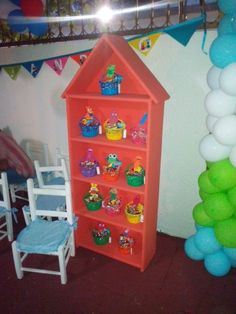 Cajita dulces baby tv bday Gingerbread, Toddler Bed, Rainbow, Tv, Holiday Decor, Party, Furniture, Home Decor, Crates