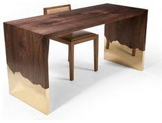 Dipped Desk - contemporary - desks - Hudson Furniture, Inc.