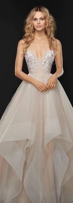 Wedding Dress by HAYLEY PAIGE - Keagan Embellished Tulle Ballgown