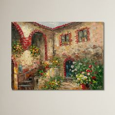 Found it at Wayfair.ca - Tuscany Courtyard Painting Print on Canvas