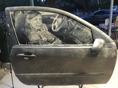 Scott Wades AweInspiring Dirty Car Art Washes Off In The Rain - Scott wade makes wonderful art dusty car windows