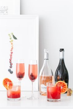 Grapefruit Hibiscus Royale and Sicilian Gin Spritz - Sparkling Wine Cocktail Recipes